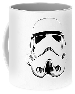 Star Wars Stormtrooper Helmet Graphic Drawing Coffee Mug