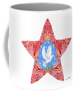 Star With Dove Of Peace Coffee Mug by Lise Winne