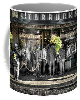 Starbucks At The Market Coffee Mug by Spencer McDonald