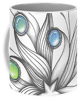 Coffee Mug featuring the drawing Starburst by Jan Steinle