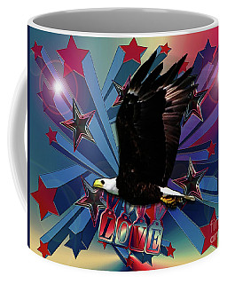 Coffee Mug featuring the photograph Starburst Love Eagle by Rockin Docks Deluxephotos