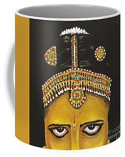 Coffee Mug featuring the painting Stare by Brindha Naveen