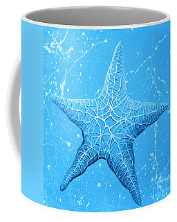Starfish In Blue Coffee Mug