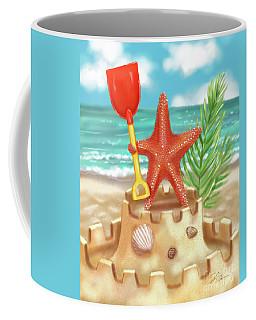 Starfish Makes A Sandcastle Coffee Mug