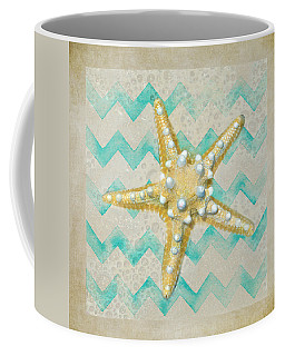 Starfish In Modern Waves Coffee Mug