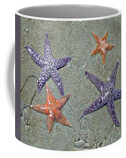 Coffee Mug featuring the photograph Starfish Party by 'REA' Gallery