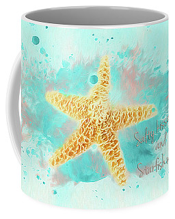 Coffee Mug featuring the photograph Starfish Wishes by Darren Fisher