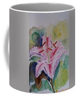 Stargazer Lily Watercolor Still Life Gift  Coffee Mug