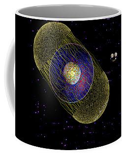 Coffee Mug featuring the digital art Stargeist Contact by Iowan Stone-Flowers