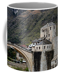 Stari Most Ottoman Bridge And Embankment Fortification Mostar Bosnia Herzegovina Coffee Mug