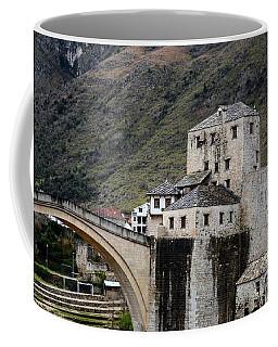 Stari Most Ottoman Bridge And Embankment Fortification Mostar Bosnia Herzegovina Coffee Mug