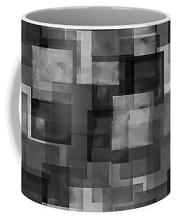 Stark Black Squares Abstract Pattern Coffee Mug