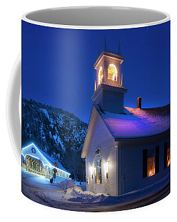 Stark Nh Covered Bridge And White Church In Winter Coffee Mug by Joann Vitali