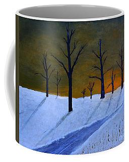 Stark Winter Sunset Coffee Mug