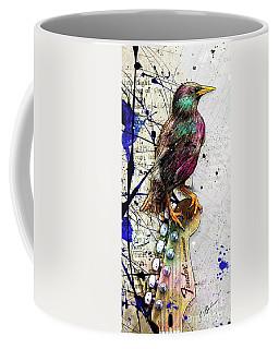 Starling On A Strat Coffee Mug