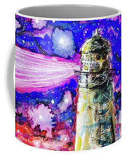 Coffee Mug featuring the painting Starry Light by Monique Faella