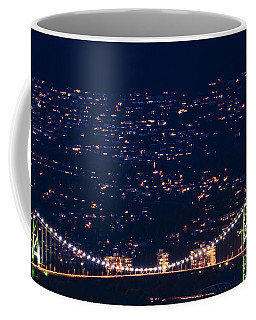 Coffee Mug featuring the photograph Starry Lions Gate Bridge - Mdxxxii By Amyn Nasser by Amyn Nasser