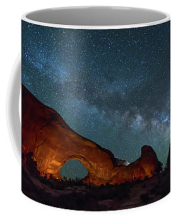 Starry Night At North Window Rock Coffee Mug