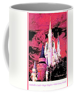 Coffee Mug featuring the digital art Starry Night Cinderella's Castle Walt Disney World by A Gurmankin