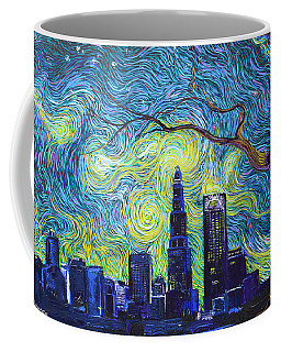 Starry Night Over The Queen City Coffee Mug