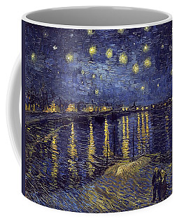 Coffee Mug featuring the painting Starry Night Over The Rhone by Van Gogh