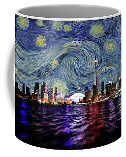 Coffee Mug featuring the painting Starry Night Toronto Canada by Movie Poster Prints
