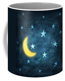 Stars And Moon Drawing With Chalk Coffee Mug