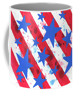 Coffee Mug featuring the painting Stars And Strips  by Darice Machel McGuire
