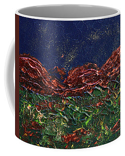 Stars Falling On Copper Moon Coffee Mug by Donna Blackhall