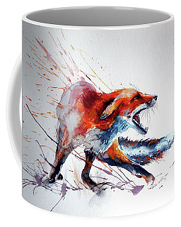 Startled Red Fox Coffee Mug