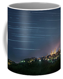 Startrails Over San Gimignano Coffee Mug