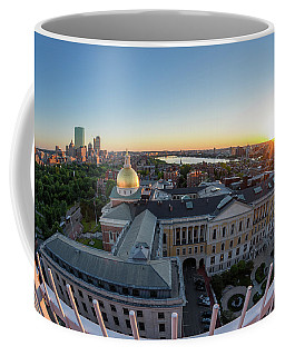 Coffee Mug featuring the photograph State House,fisheye View by Michael Hubley
