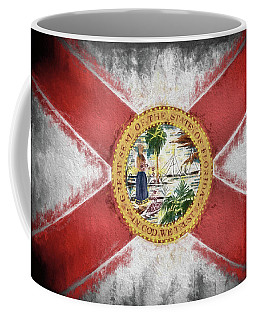 Coffee Mug featuring the digital art State Of Florida Flag by JC Findley