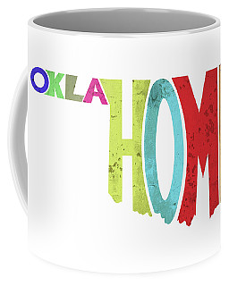 State Of Oklahoma Typography Coffee Mug