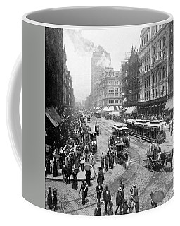 State Street - Chicago Illinois - C 1893 Coffee Mug by International  Images