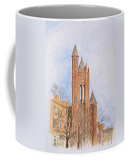 Coffee Mug featuring the painting State Street Church by Dominic White