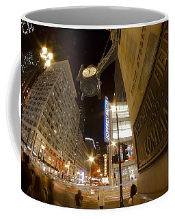 State Street Night Scene Coffee Mug