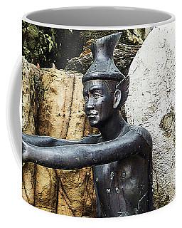 Statue Doing A Thai Yoga Pose Coffee Mug