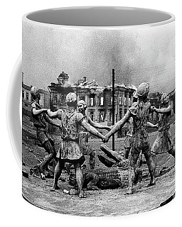 Statue Of Children After Nazi Airstrikes Center Of Stalingrad 1942 Coffee Mug