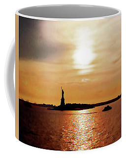 Statue Of Liberty At Sunset Coffee Mug
