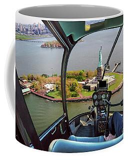 Statue Of Liberty Helicopter Coffee Mug