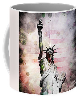 Coffee Mug featuring the digital art Statue Of Liberty by Phil Perkins