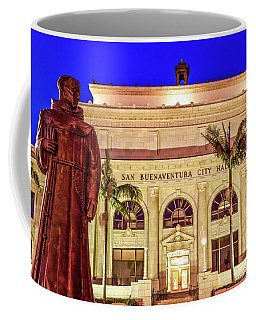 Statue Of Saint Junipero Serra In Front Of San Buenaventura City Hall Coffee Mug
