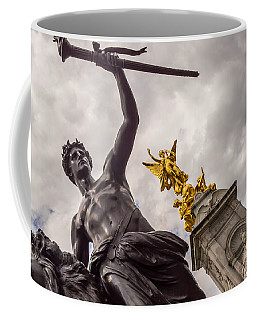 Statues In Front Of Buckingham Palace Coffee Mug