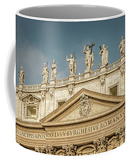 Statues Of St Peter's Basilica Coffee Mug