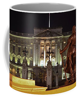Coffee Mug featuring the photograph Statues View Of Buckingham Palace by Terri Waters