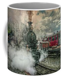 Coffee Mug featuring the photograph Steam Engine by Hanny Heim