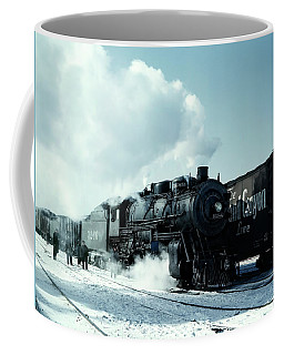 Steam Locomotive Leaving Chicago West 1943 Coffee Mug