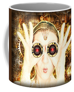 Steam Punk Lady With Bins Coffee Mug
