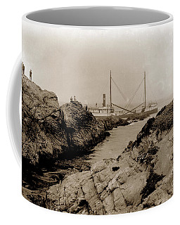 Steam Schooner S S J. B. Stetson, Ran Aground At Cypress Point, Sep. 1934 Coffee Mug